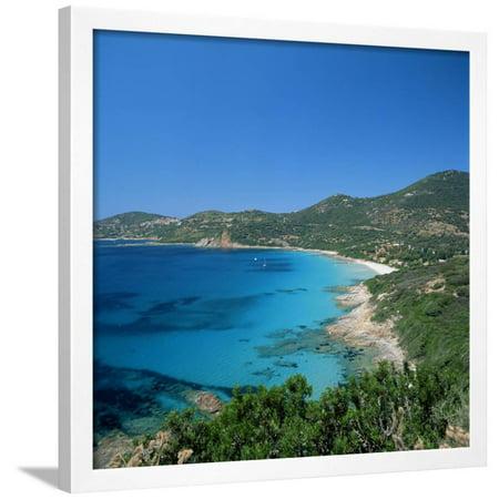 Cargese, West Coast, Corsica, France, Mediterranean, Europe Framed Print Wall (Corsica Framed)