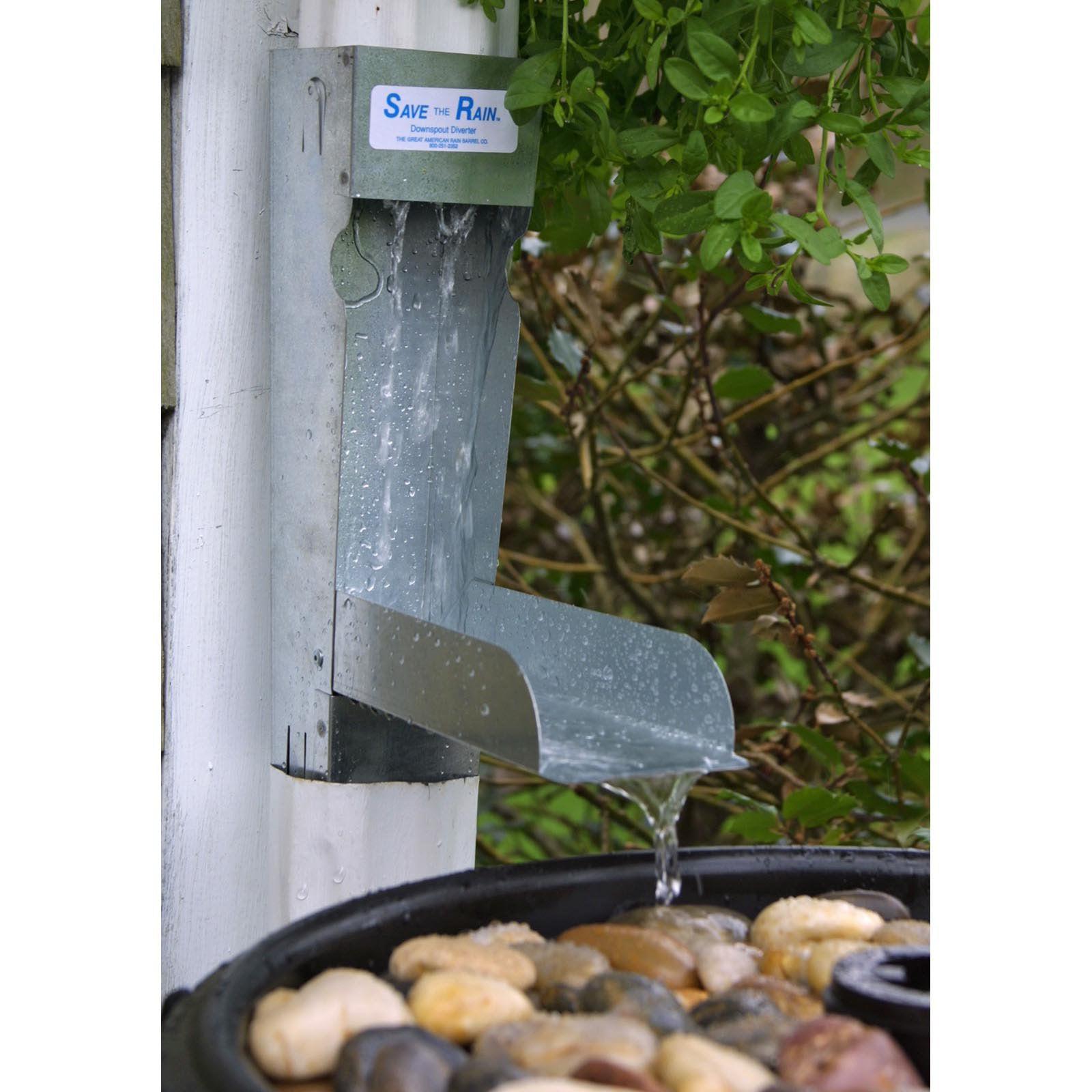 Save the Rain Water Metal Diverter  - 2 x 3 or 3 x 4