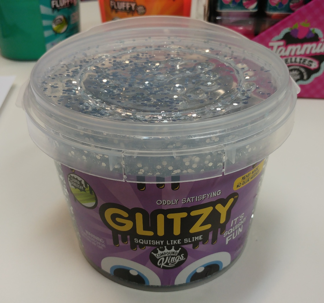 Compound Kings Glitzy Sparkle Slime Bucket: Silver by WeCool Toys, Inc