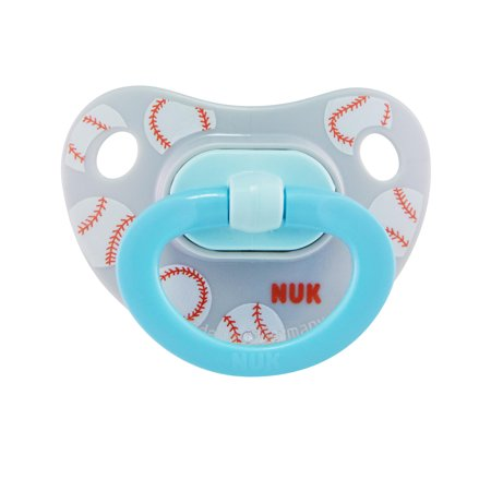 NUK Sports Orthodontic Pacifiers, Boy, 6-18 Months, (Baseball Pacifier)