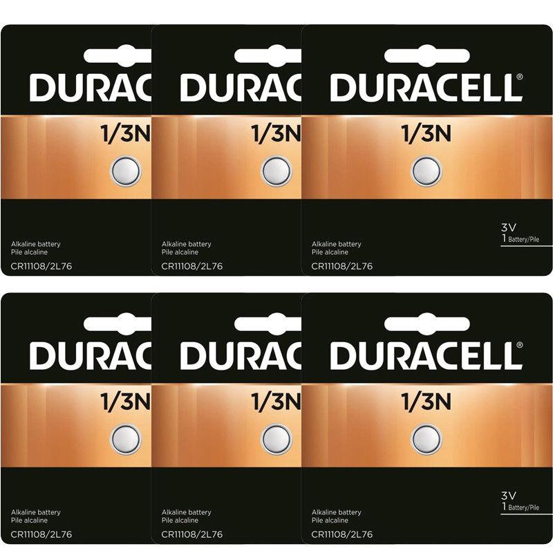 6 Pcs Duracell 2L76 CR1-3N DL1/3N 1/3N K58L 3V Lithium Battery, GENUINE