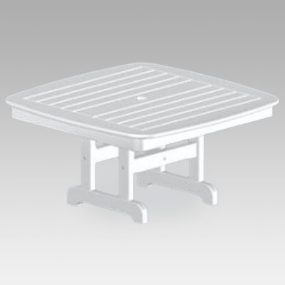 POLYWOOD; Nautical Recycled Plastic Conversation Patio Table