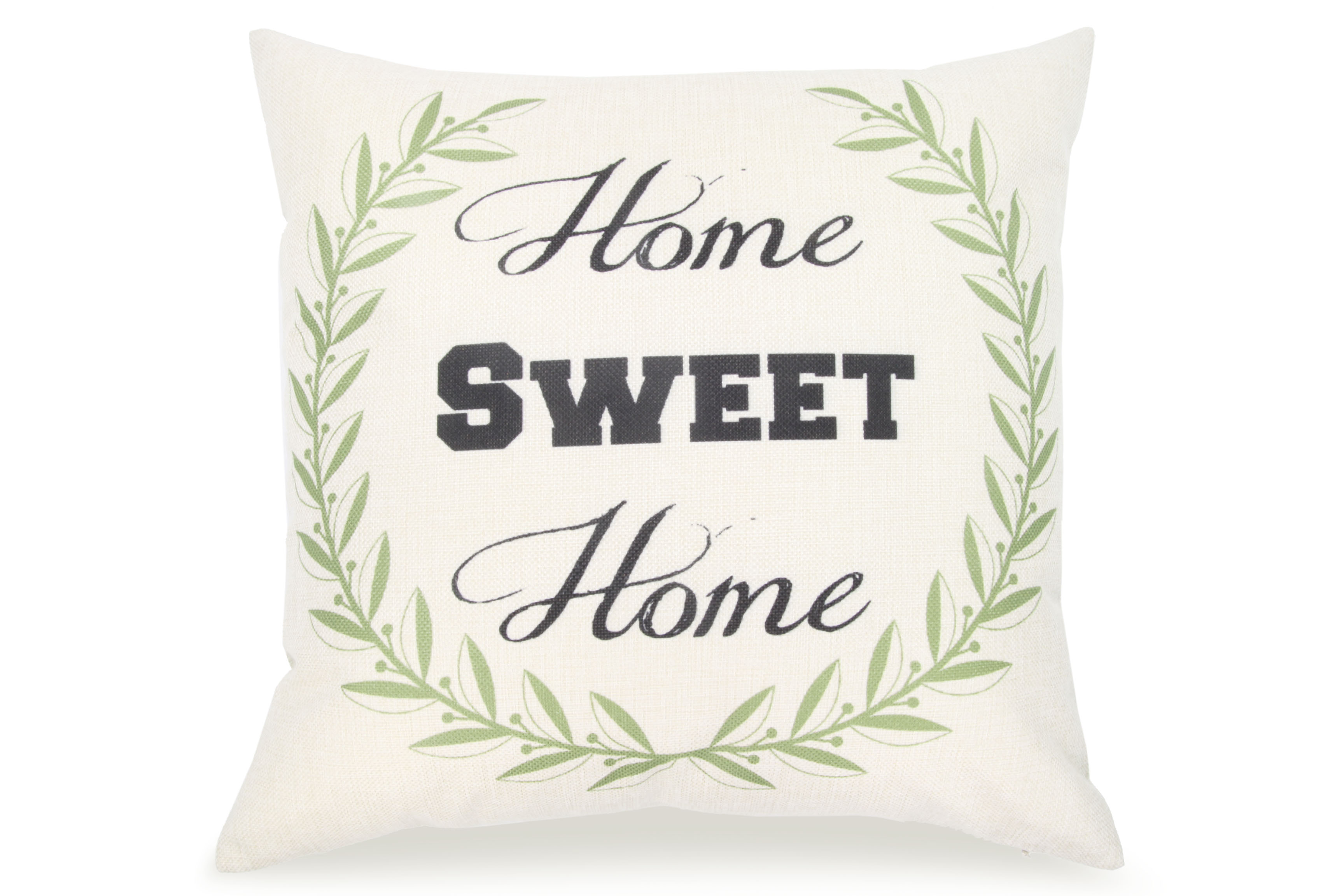 Pal Fabric Blended Linen Square 18x18 Pillow Cover Home Sweet Home Love by Pal Fabric