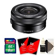 Sony 16-50mm f/3.5-5.6 OSS Alpha E-mount Retractable Zoom Lens with 8GB Top Accessory Kit