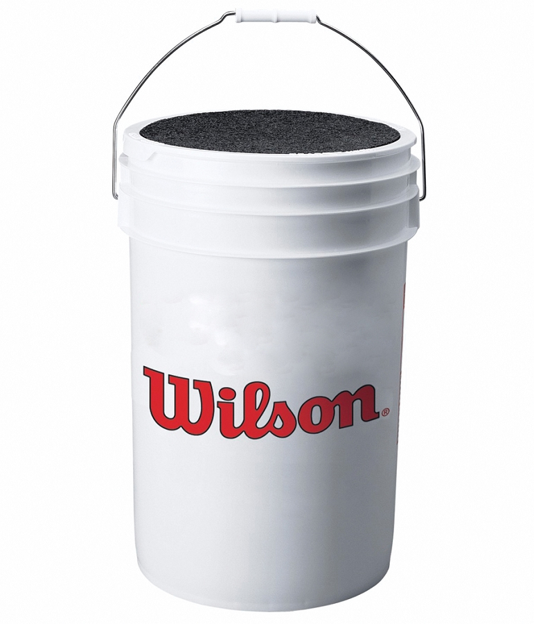 Wilson A3948 4 Dozen Capacity Baseball Bucket w  Cushioned Lid by Wilson