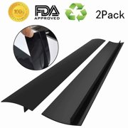 """2-Pack Silicone Gap Cover 21"""" Premium Silicone Kitchen Stove Cooktop Gap Strips"""