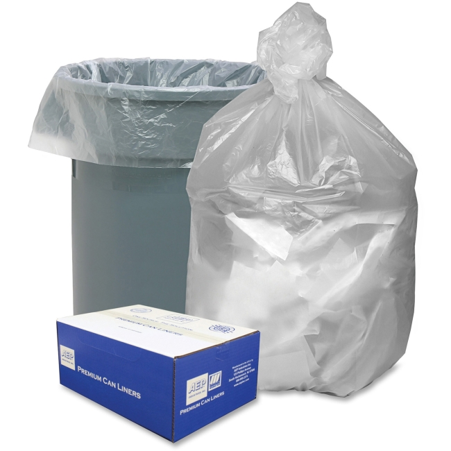 "Webster Trash Bag - Extra Large Size - 56 gal - 43"" Width x 48"" Length x 48"" Depth - 0.63 mil (16 Micron) Thickness - Hi"