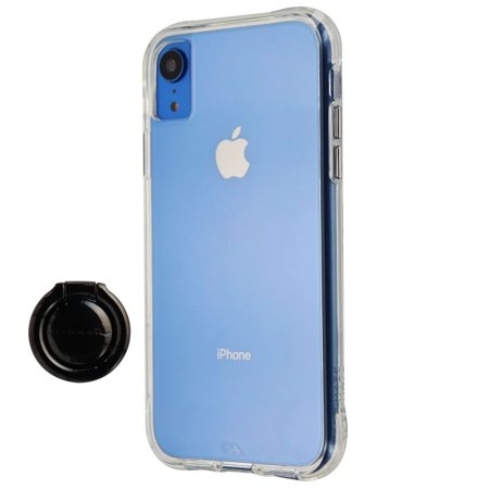 Case-Mate Tough Clear Case and Metal Ring Grip for Apple iPhone XR - Clear/Black - image 1 de 2