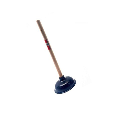 """Premium Bathroom Toilet Plunger Suction Cup with Long Wooden Handle Fix Clogged Toilets - Large 6.5"""" for efficient Suction!"""
