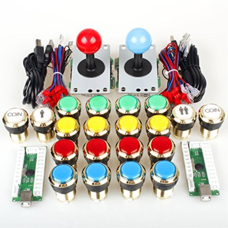 USB Encoder for PC MAME /& Raspberry Pi 2 3 Retro Game 2 Player USB Controller