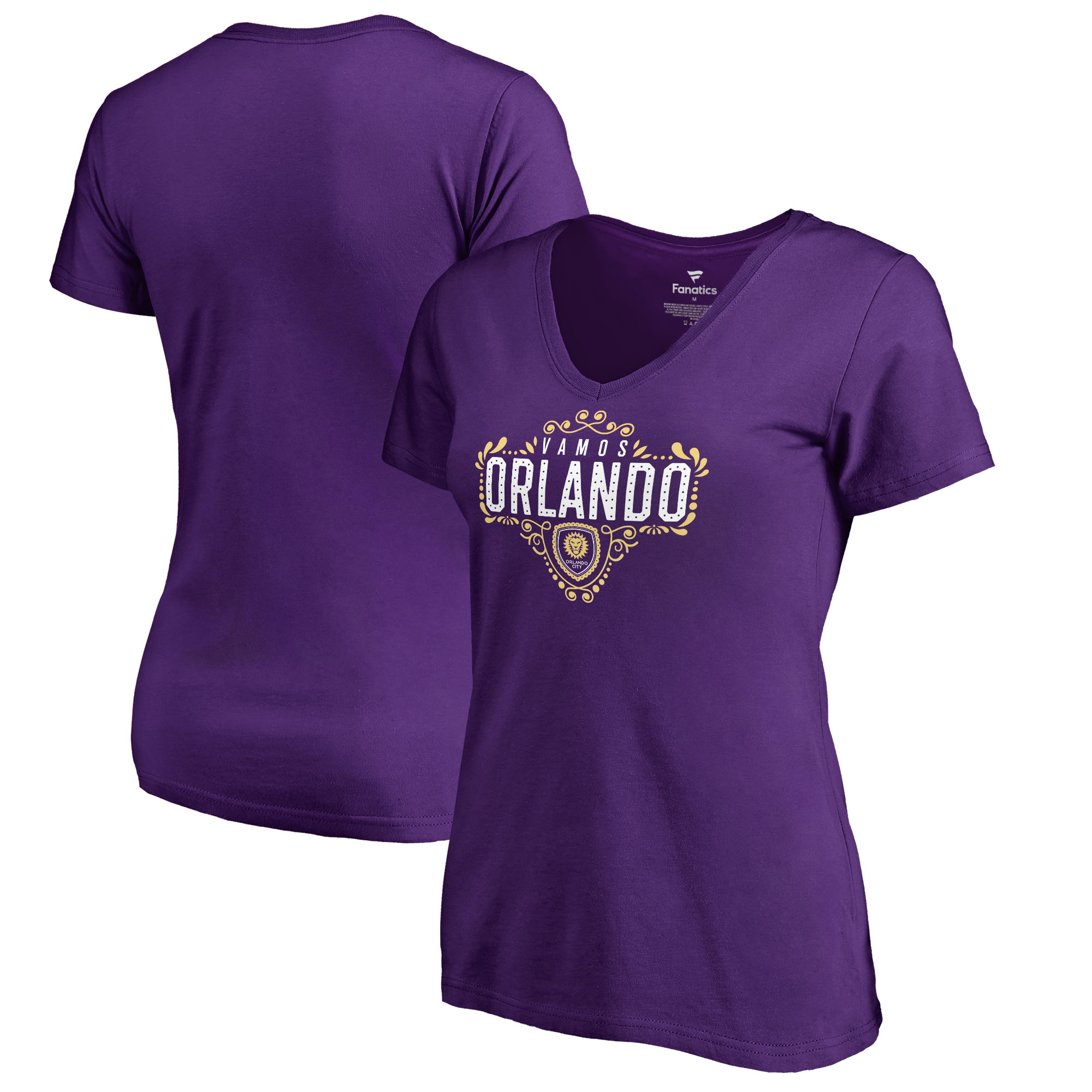 Orlando City SC Fanatics Branded Women's Hometown Collection V-Neck T-Shirt - Purple