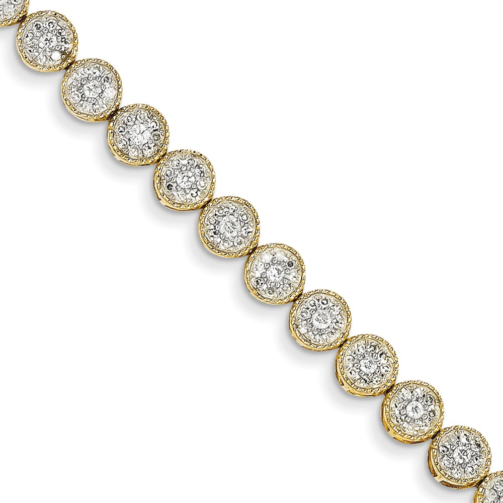 14k Yellow Gold Diamond Tennis Bracelet. Carat Wt- 2ct
