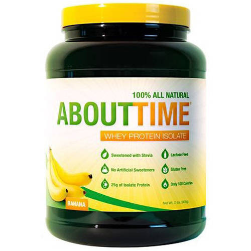 Image of About Time About Time Whey Protein Isolate Banana suppliment, 2.0 LB