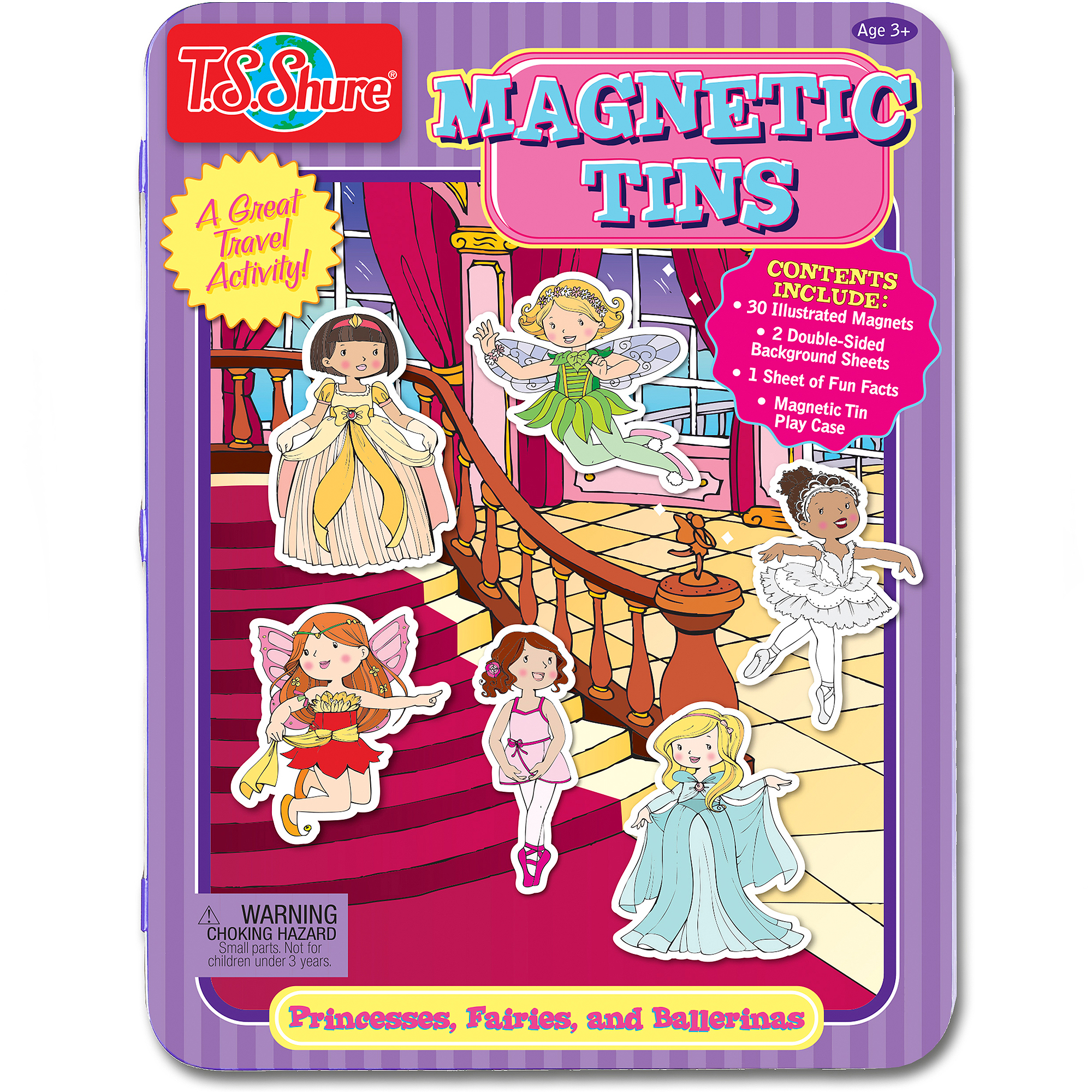 T.S. Shure Princesses, Fairies and Ballerinas Magnetic Tin Play Set