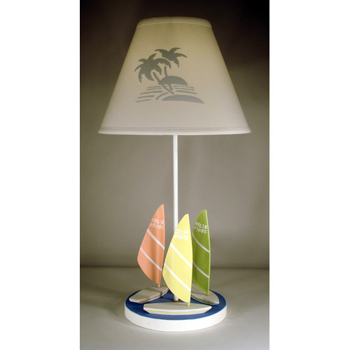 Judith Edwards Designs 3 Sailboards 22'' Table Lamp