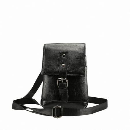 Universal Cellphone Case, Allytech Crossbody Waist Pack Messenger Bag Pouch Vertical Smartphone Holster Case with Belt Clip Hook Loop Wallet for All Phones Tablet under 6.5inch,