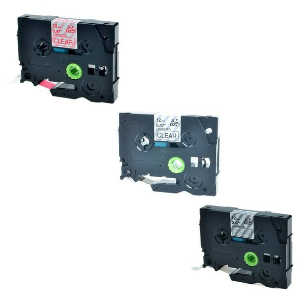 Greencycle 3pk 12mm 8m Black Red White On Clear Laminated Label Tape For Brother Tz Tze Tze 131 Tz131 Tze 132 Tz132 Tze 135 Tz135 P Touch Printer Walmart Com Walmart Com
