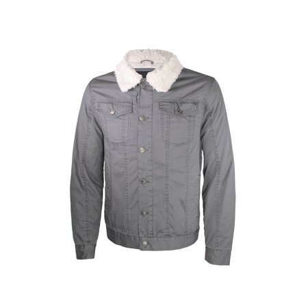 Alta Men's Sherpa-Lined Work Twill Jacket Button Up (Two Button Twill Jacket)