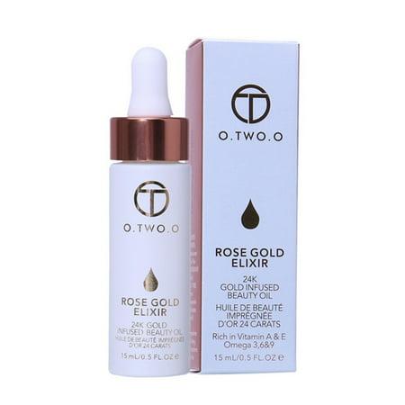 Lip Makeup Base Essence Primer Moisturizing Nourishing Skin Brighten Make up 24K Rose Gold Liquid Foundation Foil Essence Oil,nourishing