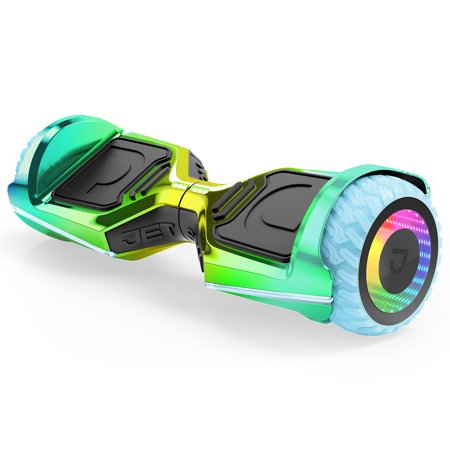 Jetson Rave Extreme-terrain Hoverboard with cosmic Light-up wheels