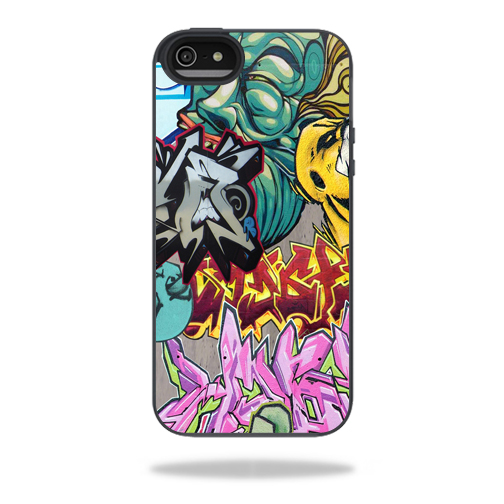 Mightyskins Protective Vinyl Skin Decal Cover for Belkin Grip Candy Sheer iPhone 5-5S Case wrap sticker skins Graffiti Wild Styles