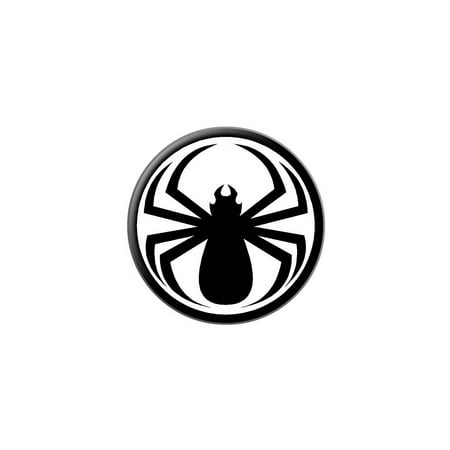 Spider Black - Widow Lapel Hat Pin Tie Tack Small Round - Small Black Spider
