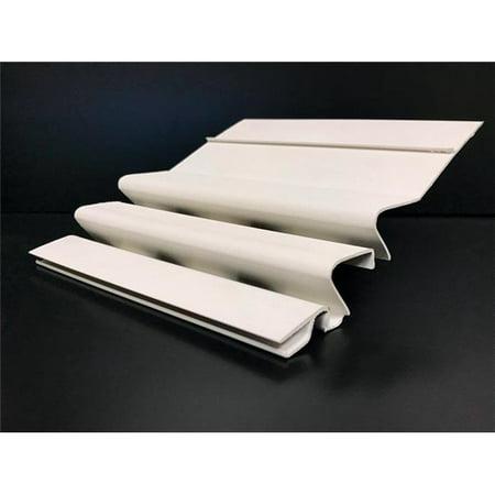Crane 5994926 WaterFall 4 in. x 4 ft. White PVC Gutter Guard