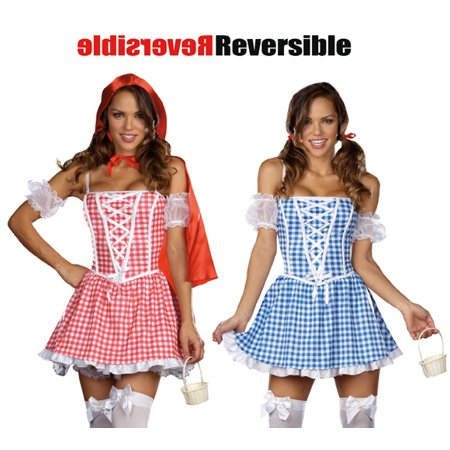 Dreamgirl Sexy Womens 2-in-1 Reversible Red Riding Hood Dorothy Halloween Costume XL (Halloween Games For 12-14 Year Olds)