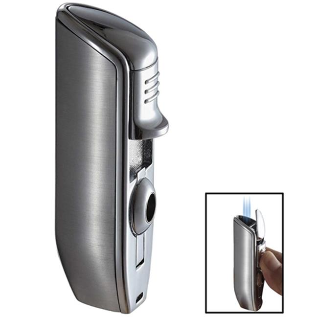 Visol VLR101201 Visol Ternion Chrome Triple Wind-Resistant Jet Flame Cigar Lighter