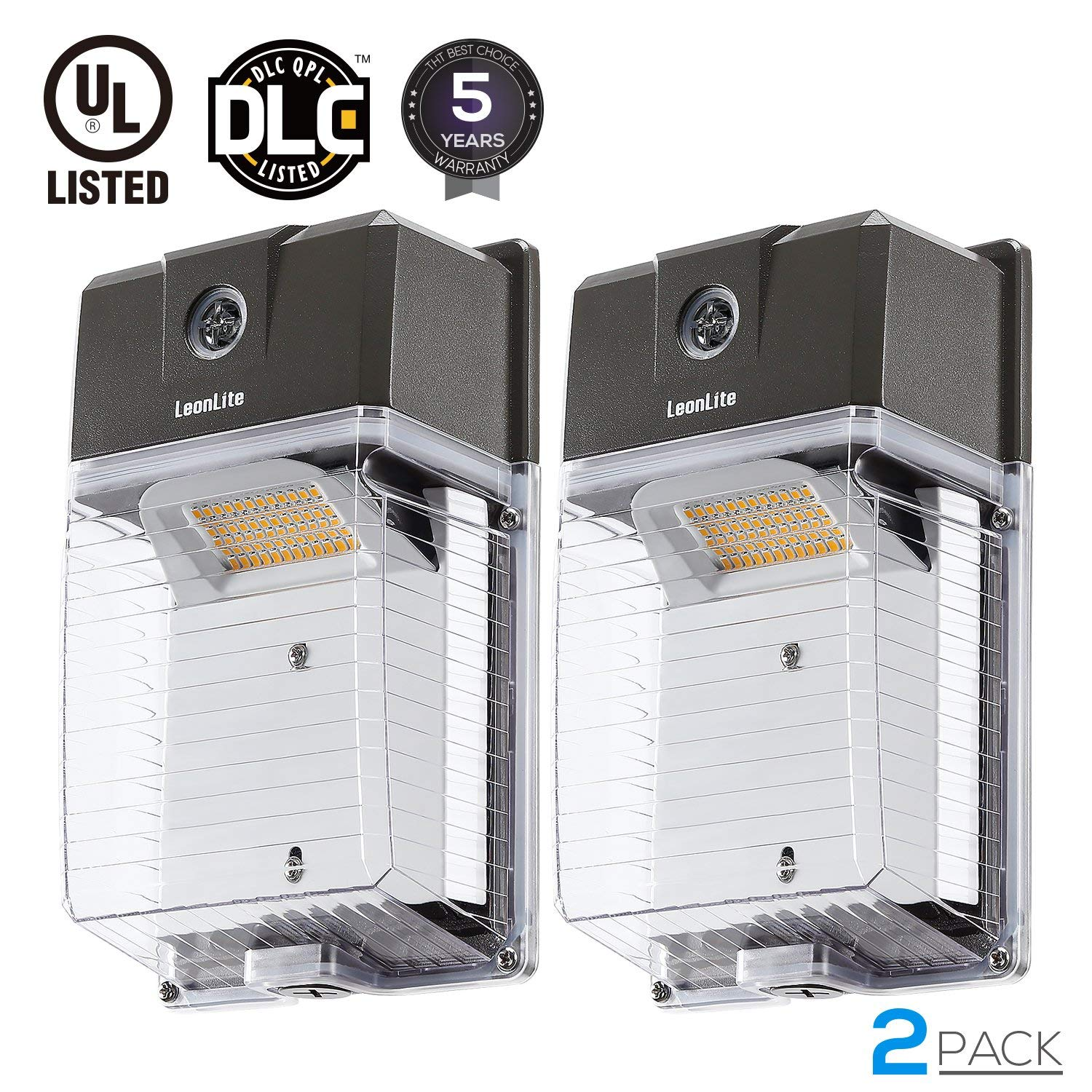 LEONLITE LED Outdoor Wall Lights Fixtures With Photocell, 30W Outdoor LED  Wall Pack Light, 5000K Daylight, Pack Of 2   Walmart.com
