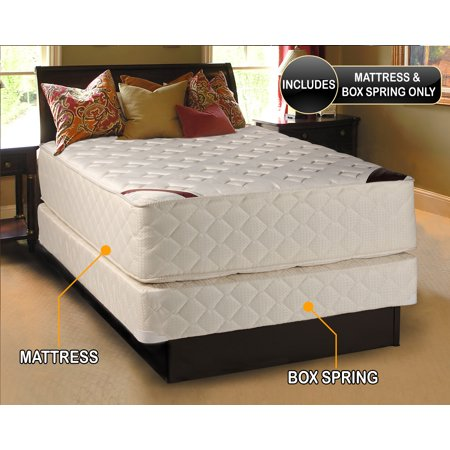 Highlight Luxury Firm California King  72 X84 X14   Mattress   Box Spring Set   Fully Assembled   Spinal Back Support  Innerspring Coils  Longlasting Comfort   By Dream Solutions Usa