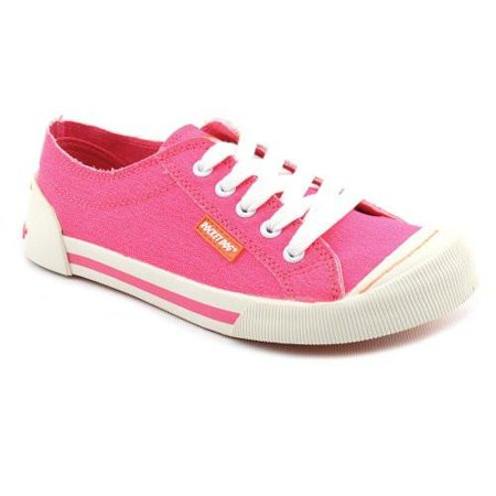 rocket dog women's jazzin lace up,pink neon canvas,7 m us [apparel]