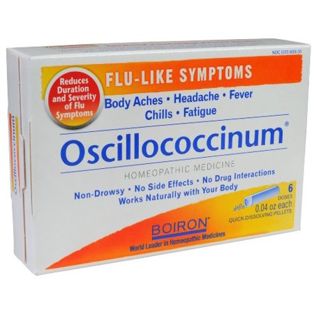 Boiron Oscillococcinum, 0.04 Ounce, 6 Doses, Homeopathic Medicine for Flu-like (Best Homeopathic Medicine For Ibs)