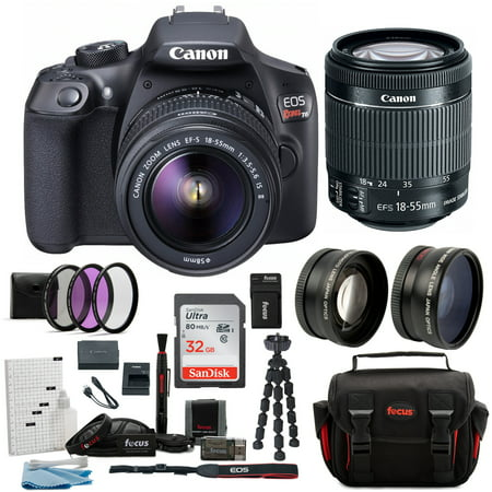 canon t6 eos rebel dslr camera with ef-s 18-55mm is ii lens deluxe - Most Eos Cameras