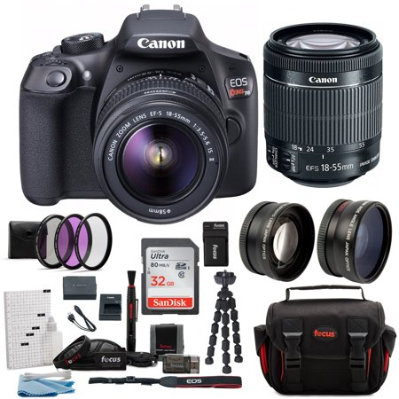 canon t6 eos rebel dslr camera with ef-s 18-55mm is ii lens deluxe (Best New Canon Dslr)