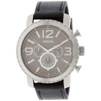 Fossil Black Leather Men's Quartz Watch