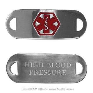 Fashion Alert Medical ID Tags - High Blood Pressure ()