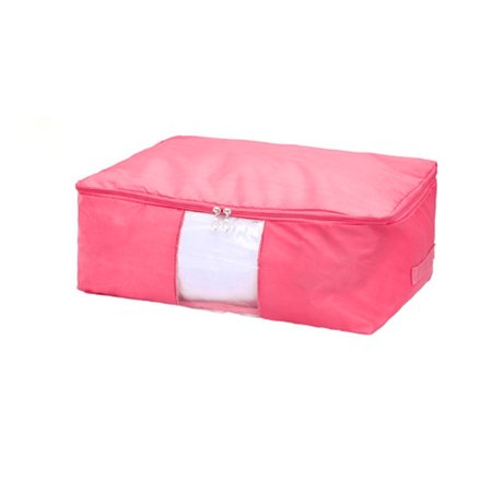 Blanket Pillows Quilt Clothes Beddings Storage Bag Organizer Pink 50 x 35 x