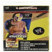 WWE Wrestling Invitation Set w/ Envelopes (8ct)