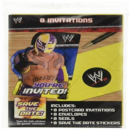 WWE Wrestling Invitations w/ Env (8ct)](Wwe Party Invitations)