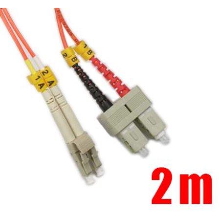 iMBAPrice 62.5/125 Multimode Duplex Fiber Optic Jumper Cable (2 Meters, (Multimode Fiber Optic Jumper)
