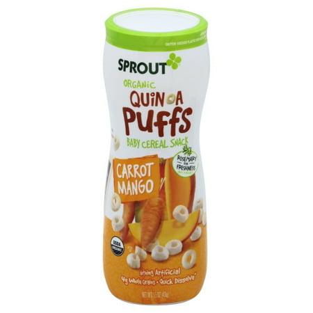 Sprout Organic Carrot Mango Quinoa Puffs, 1.5 oz Organic Corn Puffs