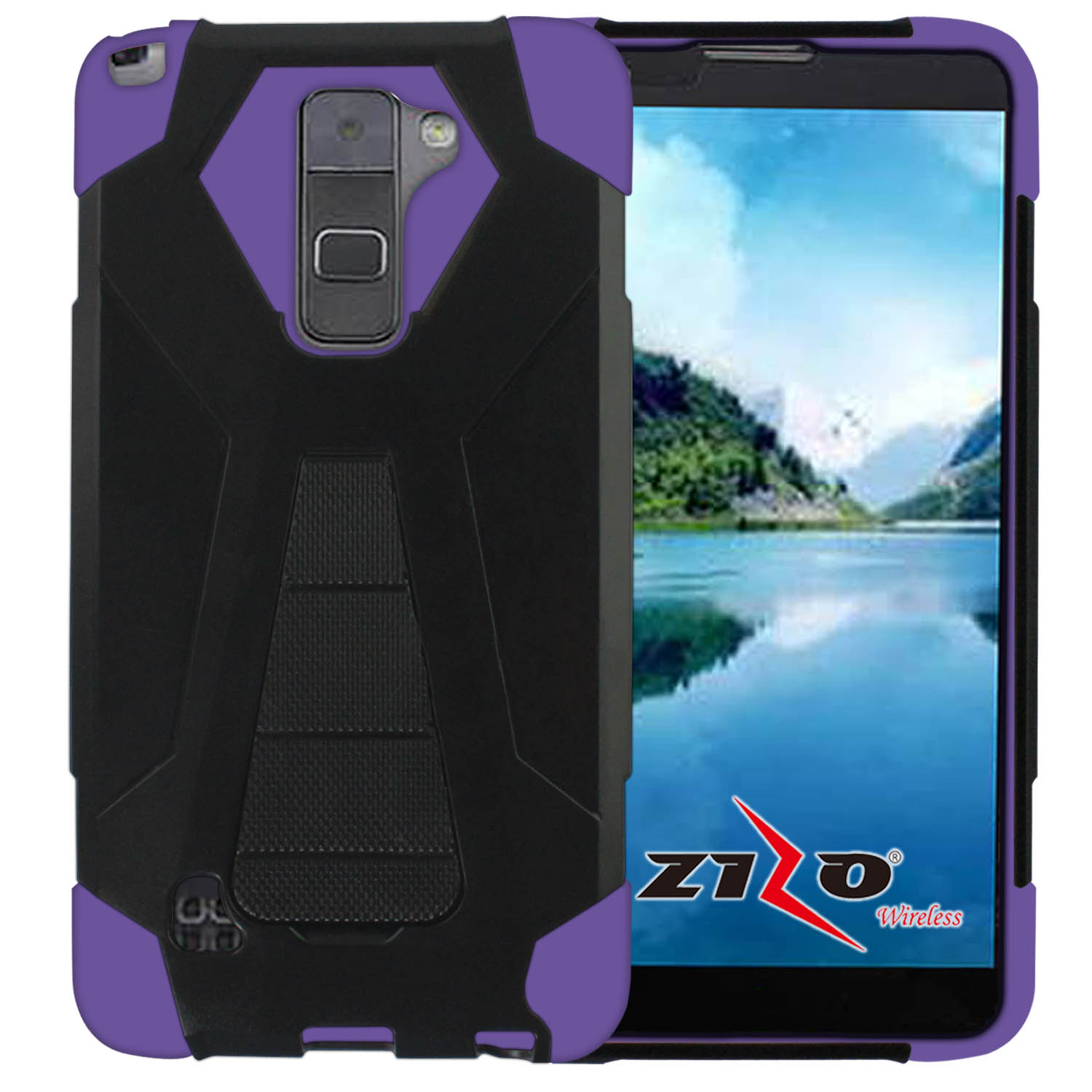 Zizo Hybrid Turbo Cover For LG Stylo 2 Plus MS550 Heavy Duty Dual Layer Rugged Shell Phone ...