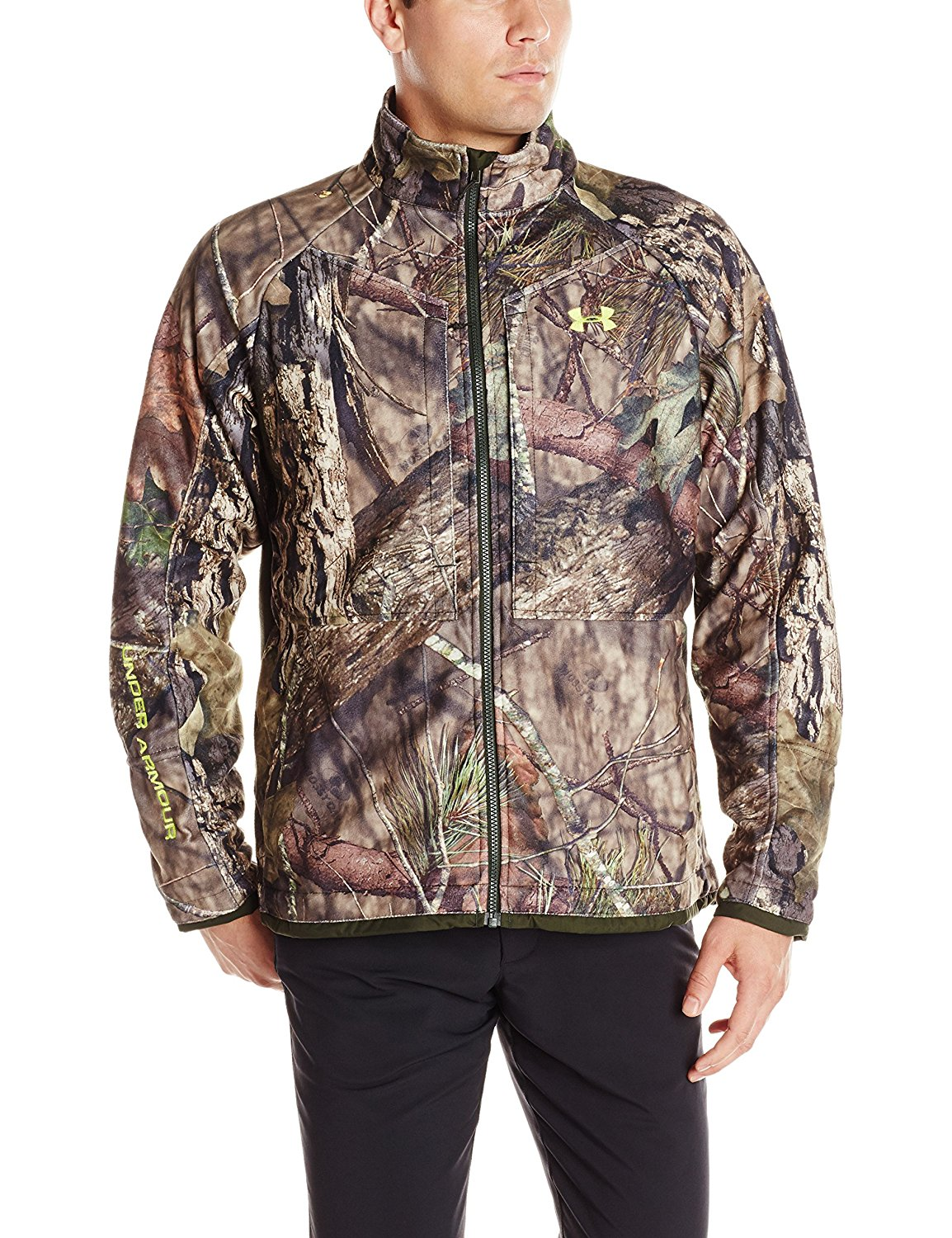 Under Armour Mens Coldgear Infrared Mossy Oak Camo Jacket Large by