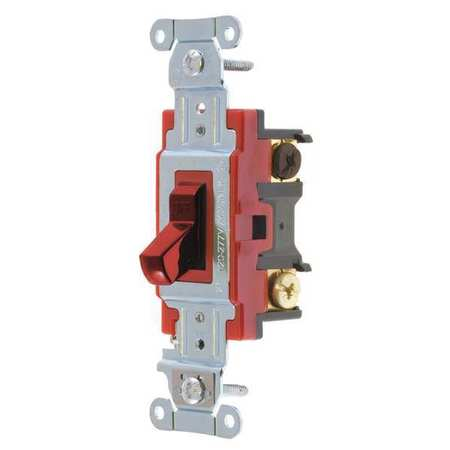 Wall Switch,20A,Red,3-Way Type,Toggle BRYANT 4903BRED
