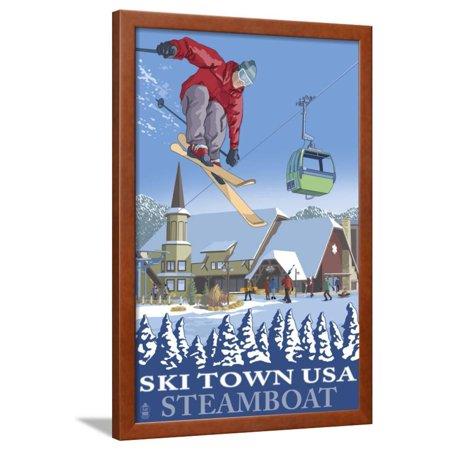 Ski Town USA - Steamboat, Colorado Framed Print Wall Art By Lantern