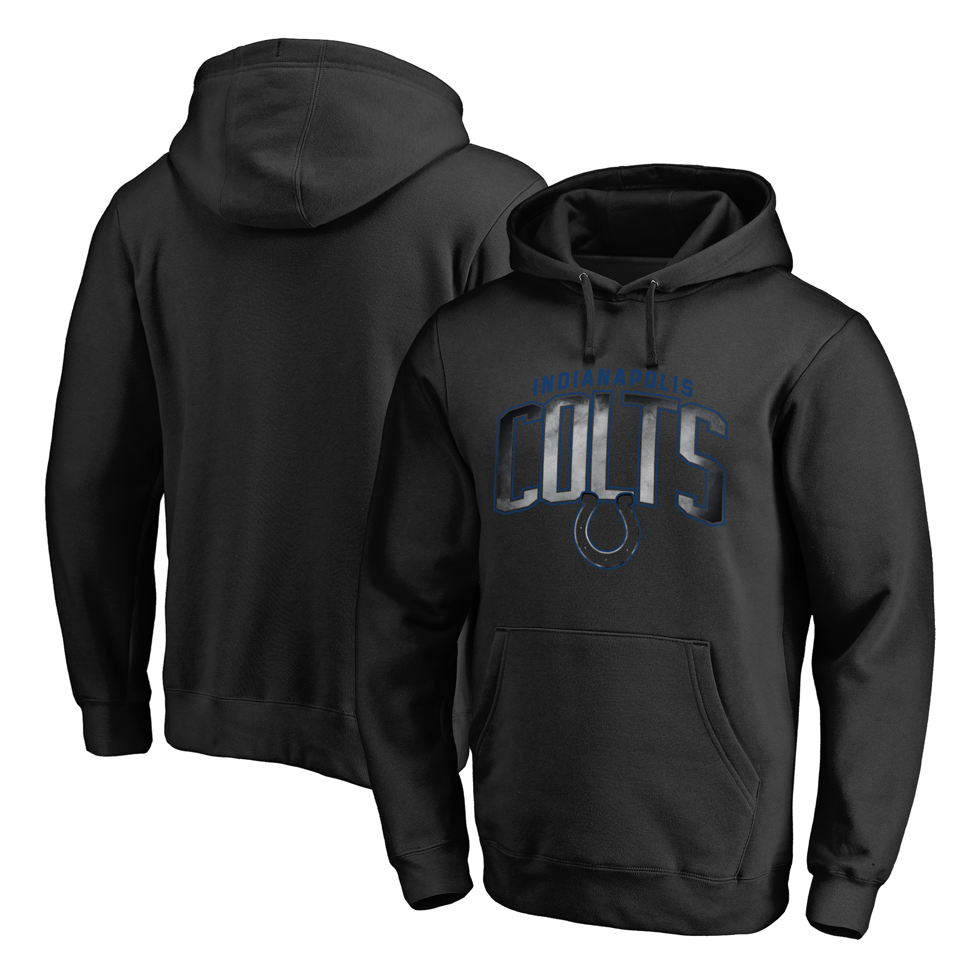 Indianapolis Colts NFL Pro Line by Fanatics Branded Big & Tall Arch Smoke Pullover Hoodie - Black - 4XB