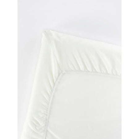 BabyBjorn Fitted Sheet for Travel Crib Light, Organic White