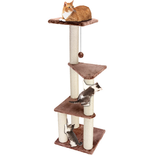Cat Craft 3-Story Cat Lookout, Brown