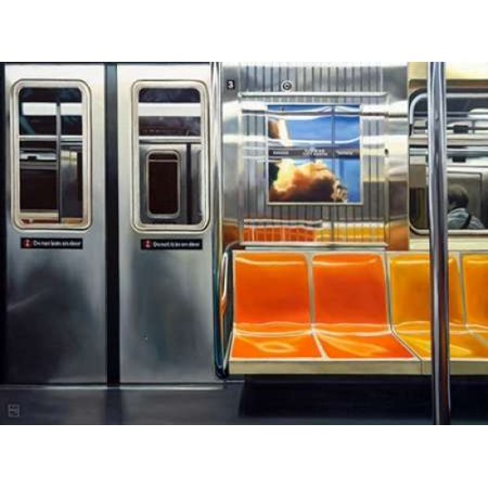 NYC Subway Reflections Poster Print by Michael Schuh (18 x 24) (Michaels Craft Store Nyc)
